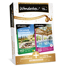 Wonderbox - ESCAPADE GOURMANDE EN AMOUREUX + SPA EN DUO
