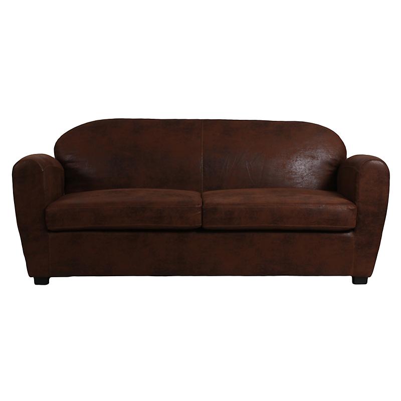canap club austin marron vieilli maison et loisirs e. Black Bedroom Furniture Sets. Home Design Ideas