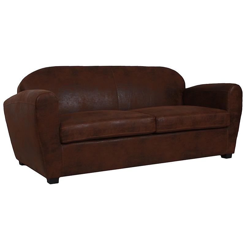 Canapé club AUSTIN marron vieilli
