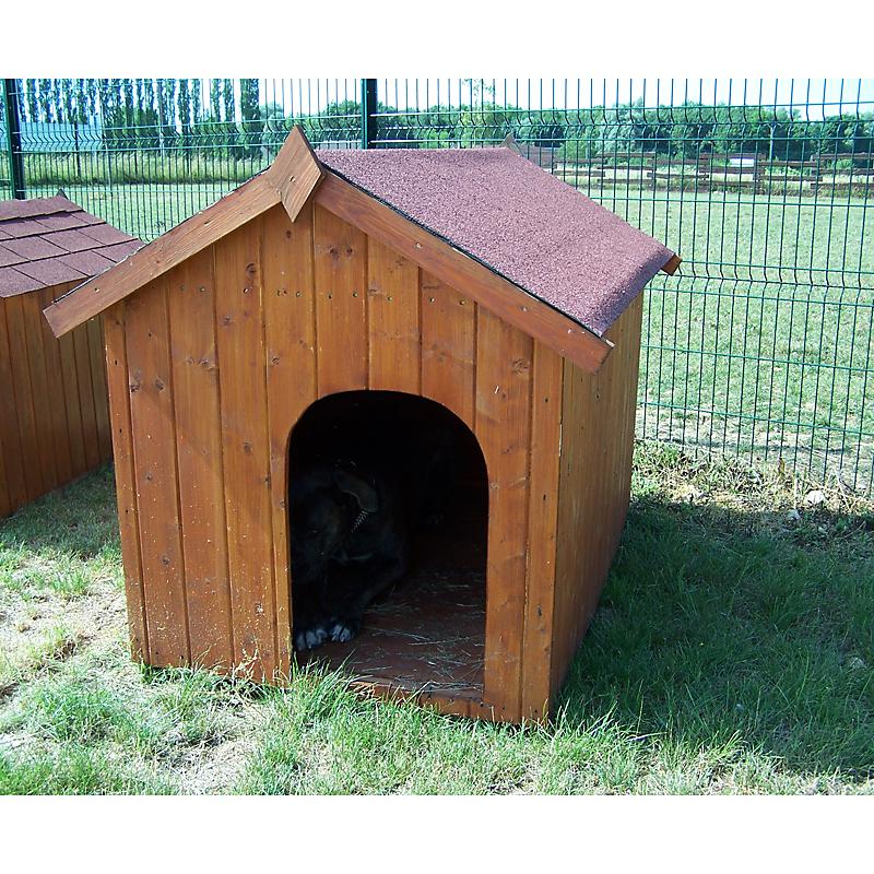 niche bois habrita pour gros chien maison et loisirs e. Black Bedroom Furniture Sets. Home Design Ideas