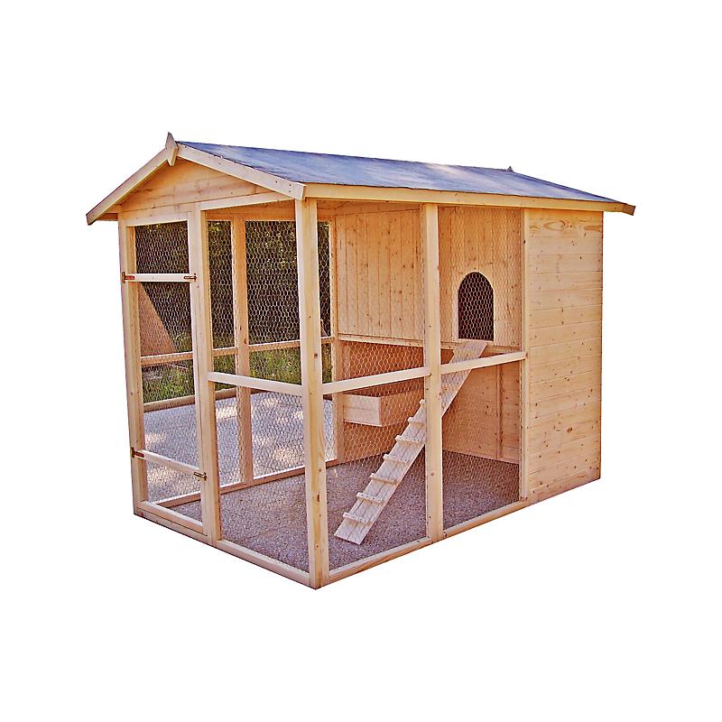 Poulailler bois grand modèle 6 à 10 poules - HABRITA