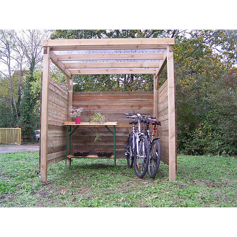 Carport bois 4 m²