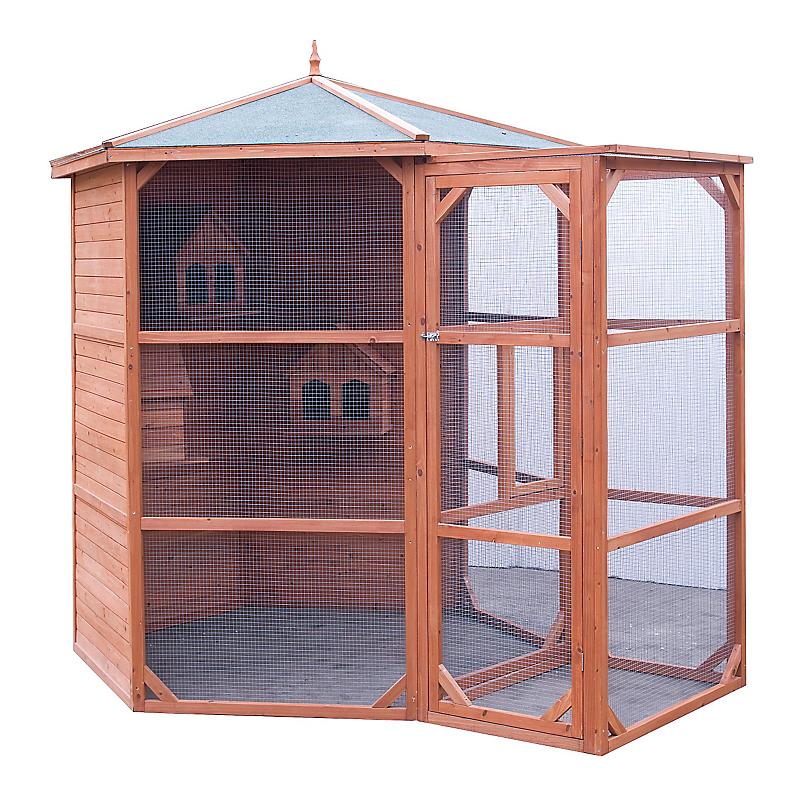Volière en bois HABRITA 4,5 m²