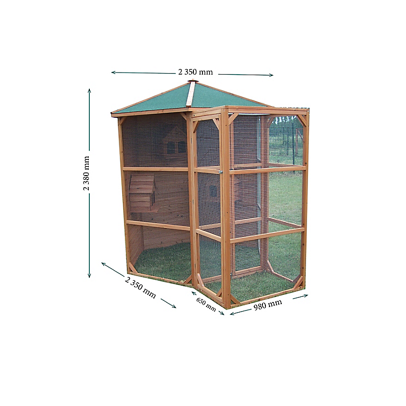Volière en bois 4,5 m² - HABRITA
