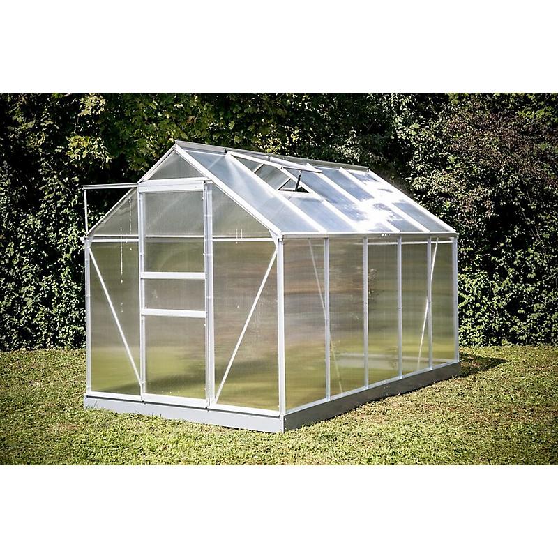 Serre HABRITA polycarbonate alu gris 6 m²