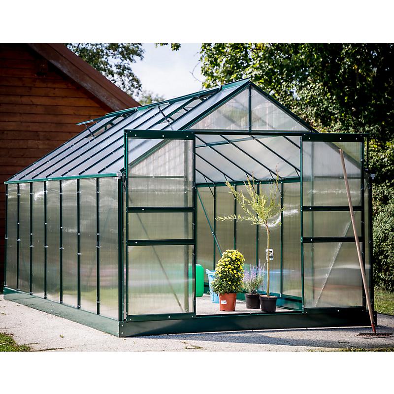 Serre HABRITA polycarbonate alu vert 10,37 m²
