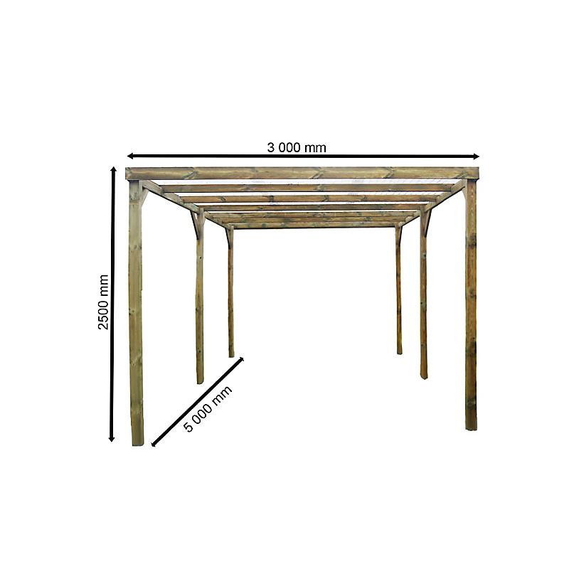 Carport bois HABRITA 15 m²