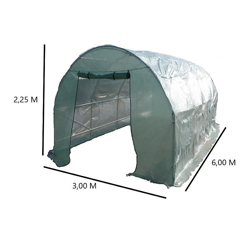 Serre HABRITA tunnel en acier 25 mm 18 m²