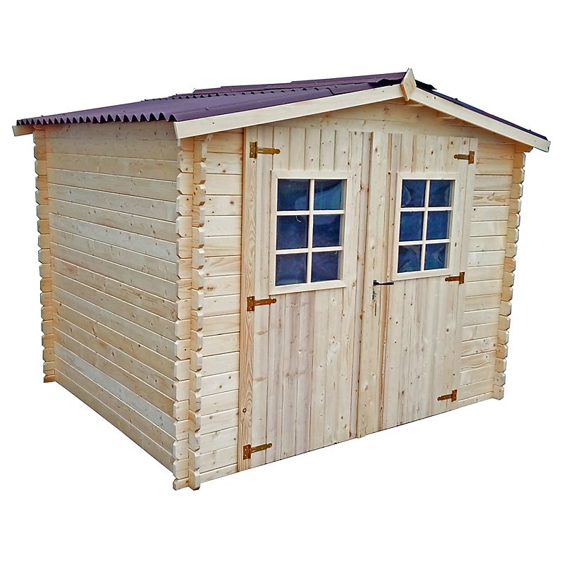 Abri de jardin en bois 28MM 6,16 m²