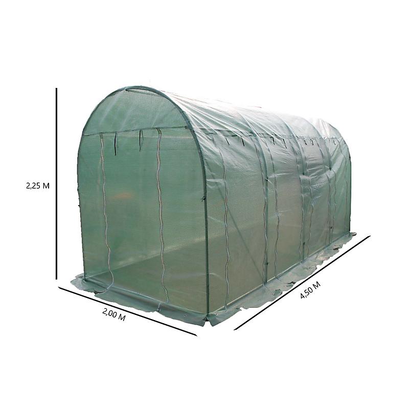 Serre HABRITA de jardin polyéthylène  25MM 9 m²