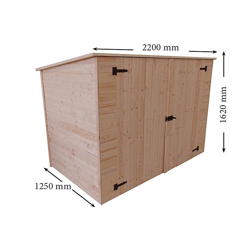 Remise panneaux HABRITA 16 mm 2,37 m²