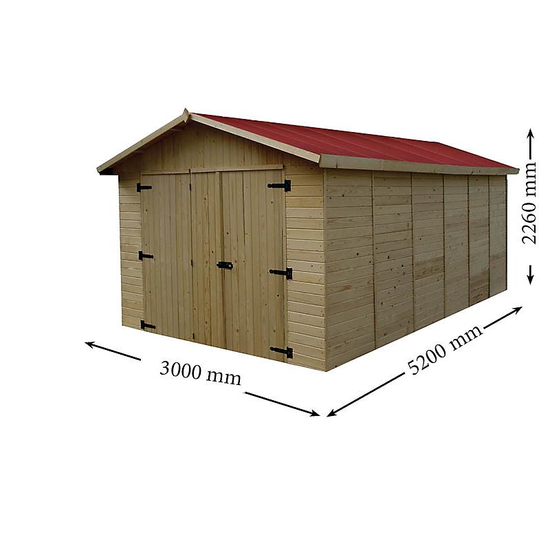 Garage panneaux en bois Habrita 13,20 m²