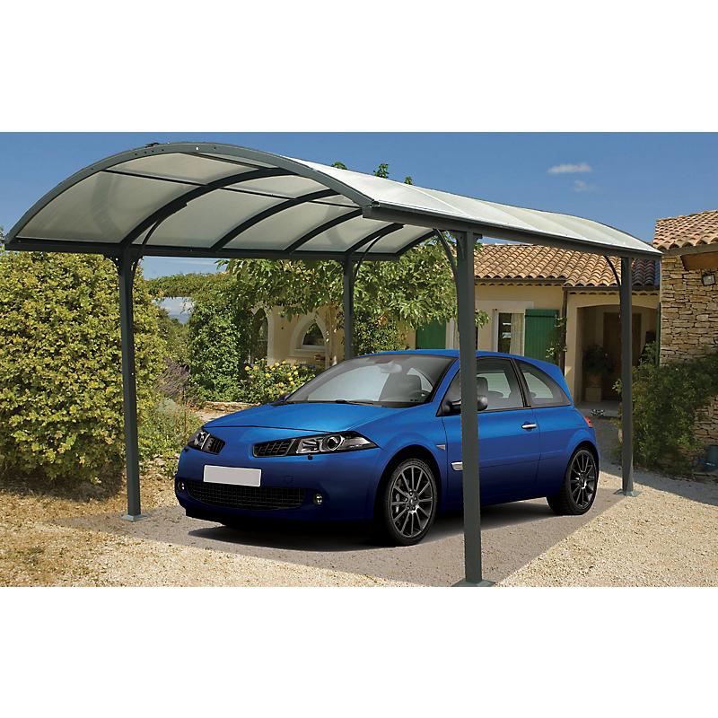 Carport aluminium HABRITA 1 voiture 14,6 m²