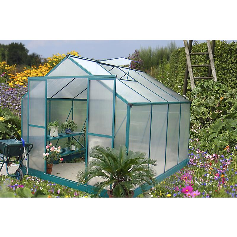 Serre HABRITA polycarbonate alu vert 7,1 m²