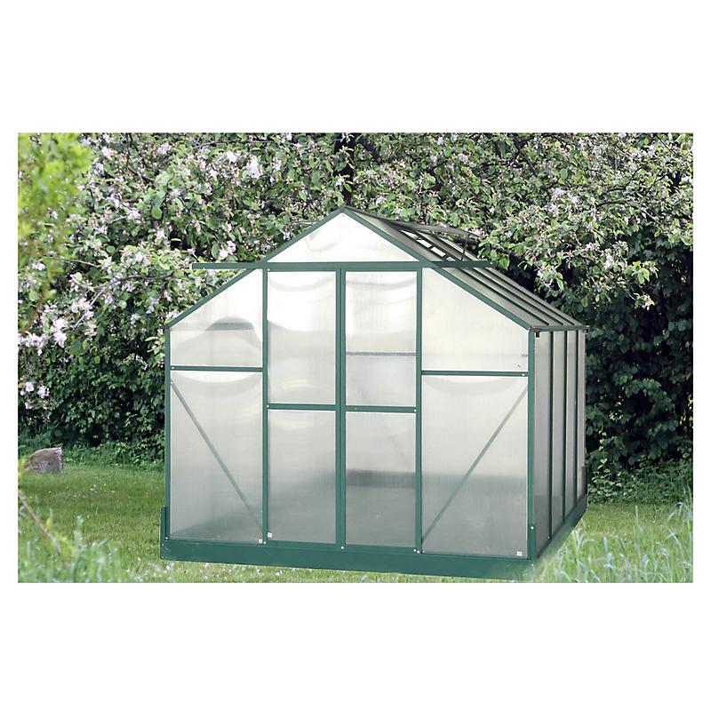 Serre HABRITA polycarbonate alu vert 7,44 m²