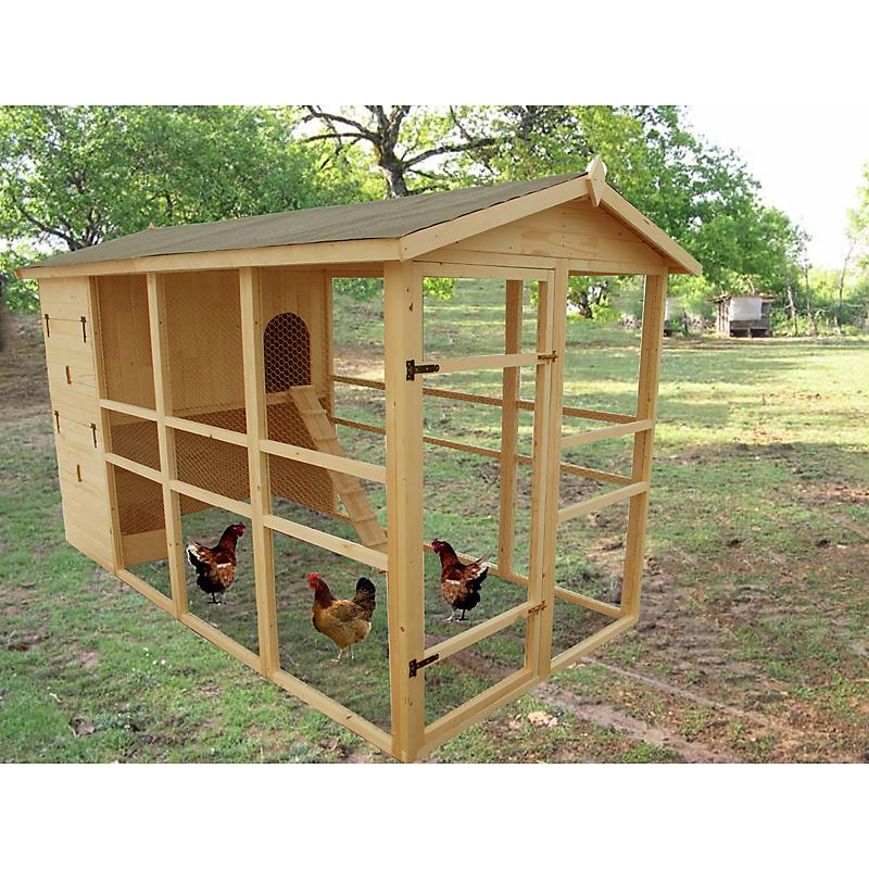 Poulailler en bois HABRITA 8 à 12 poules