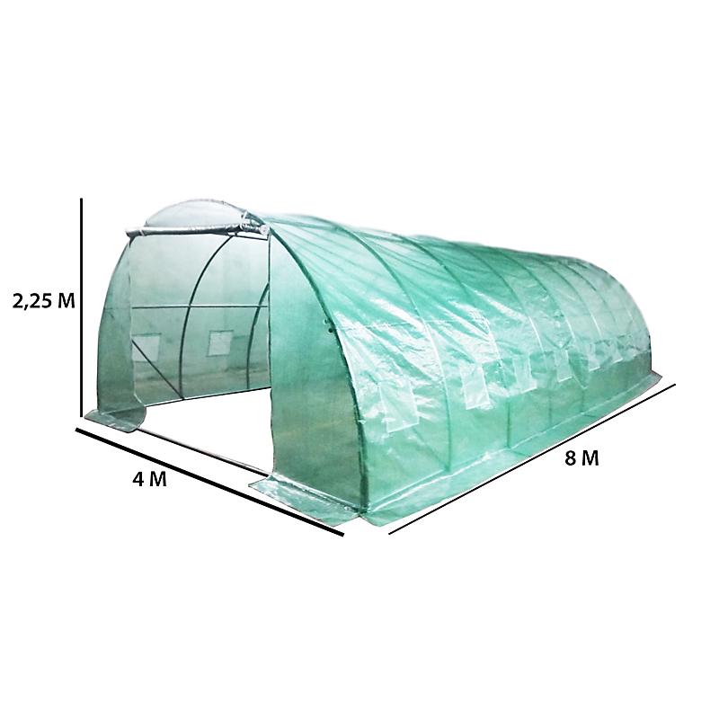 Serre tunnel HABRITA polyéthylène 32 MM 32 m²