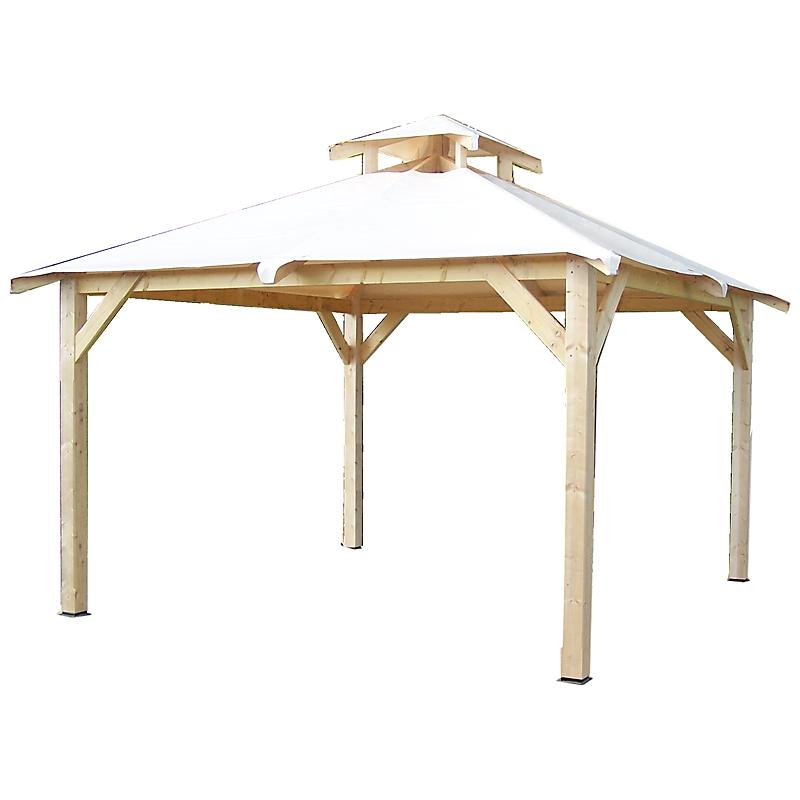 Tonnelle SPACIO en bois 4 pentes 12,53 m²