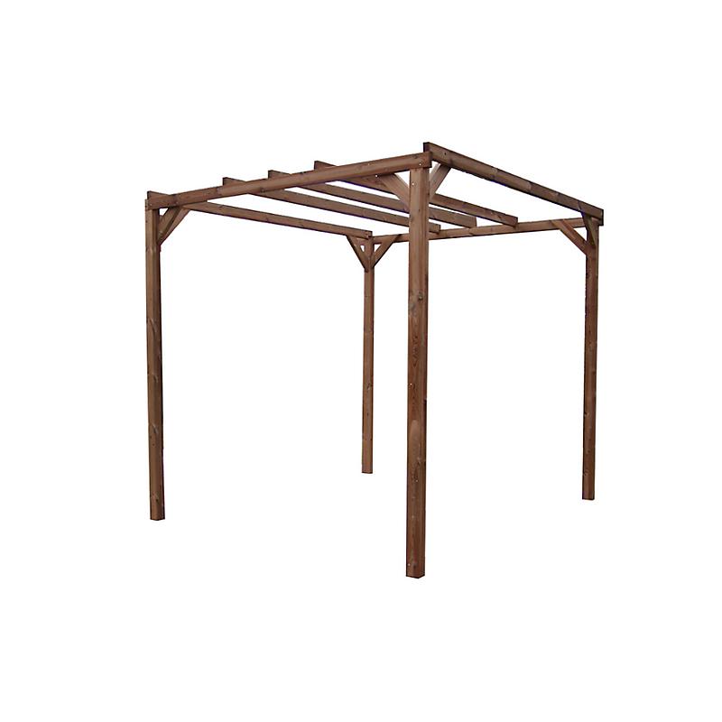 Pergola THONON en bois thermo chauffé sans couverture 8.88 m²