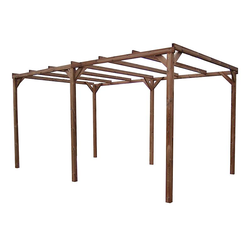 Pergola THONON en bois thermo chauffé sans couverture 14.80 m²