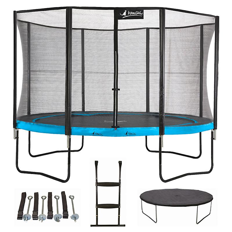 Trampoline Punchi ATOLL 430 + échelle + couverture + kit ancrage - KANGUI