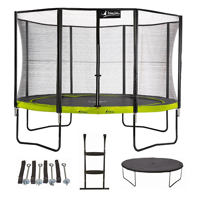 Trampoline Punchi ALOE 360 + échelle + couverture + kit ancrage - KANGUI
