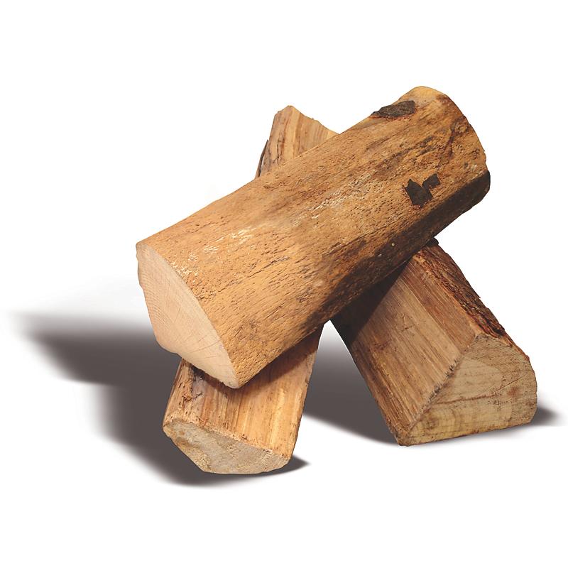1 pack Woodstock : 2400 DM³ de bûches de 25 cm + 8 sacs de bois d'allumage