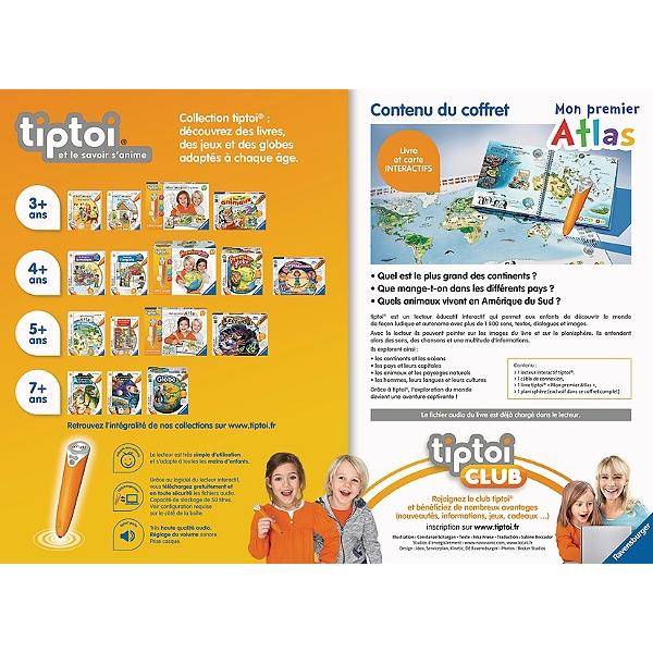 Tiptoi Coffret Complet Lecteur Interactif Livre Atlas