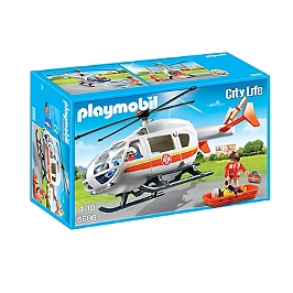 PLAYMOBIL - Hélicoptère Médical - 6686