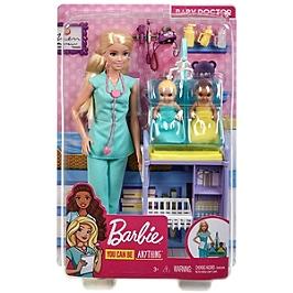 Barbie - Coffret Pédiatre (Blonde) - Coffret Poupée Mannequin - 3 Ans Et + - Barbie - GKH23