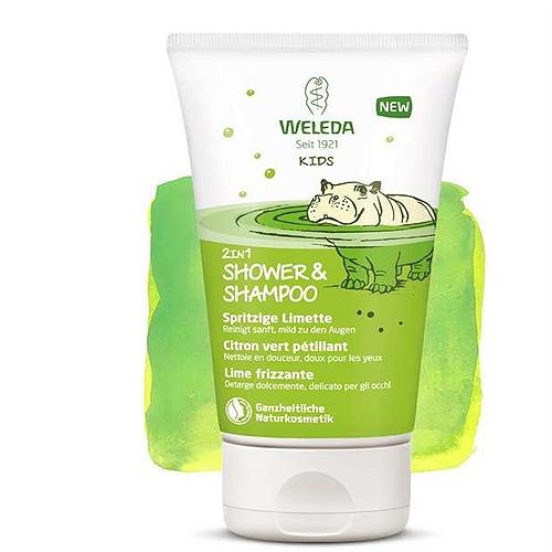 Douche & shampooing enfants 2 en1 citron vert 150ml