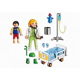 PLAYMOBIL - Chambre d'enfant avec médecin - 6661