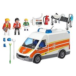 PLAYMOBIL - Ambulance avec gyrophare et sirène - 6685