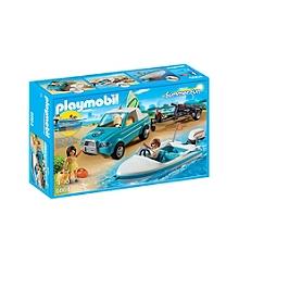 PLAYMOBIL - Voiture avec bateau et moteur - 6864