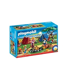 PLAYMOBIL - Tentes avec enfants et animatrice - 6888