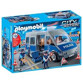 PLAYMOBIL - Fourgon de policiers avec matériel - 9236
