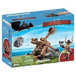 PLAYMOBIL - Gueulfor avec catapulte - DreamWorks Dragons © - 9245