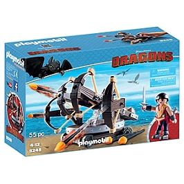 PLAYMOBIL - Eret et baliste à 4 projectiles - DreamWorks Dragons © - 9249