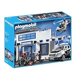 PLAYMOBIL - Poste de police et véhicules - 9372