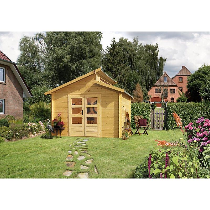 Abri de jardin en bois Varmland 28 mm 9,24 m² en pin
