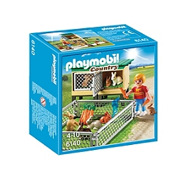 PLAYMOBIL - Enfant Avec Enclos À Lapins  - 6140