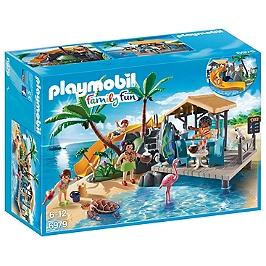 PLAYMOBIL - Ile avec vacanciers  - 6979