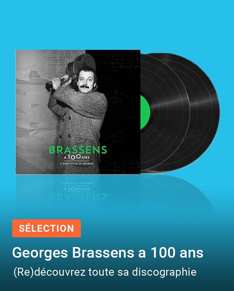 Sélection CD & vinyles Georges Brassens - 100 ans
