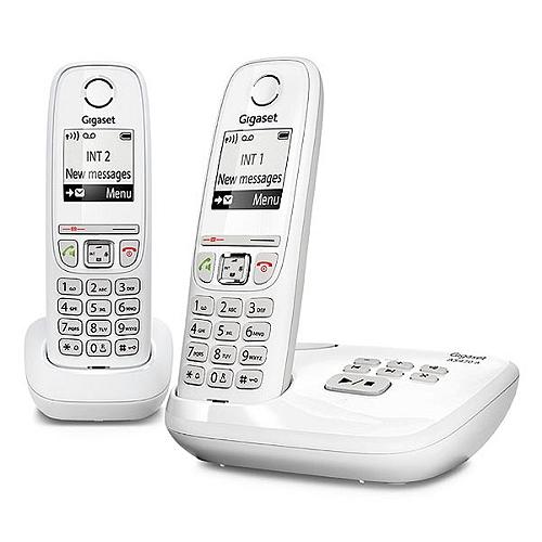 Téléphone Fixe Sans Fil Gigaset As470a Duo Blanc Eleclerc High Tech