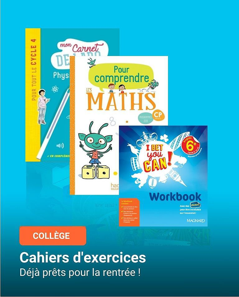Cahiers d'exercices et Workbooks