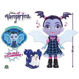 Vampirina - Vampirinia Bat-Poupée 24 Cm Avec Ailes Lumineuses Et Sons - Disney - VAM15