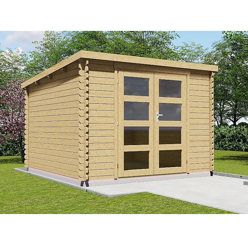 Abri de jardin en sapin massif 28 mm 7,56 m²