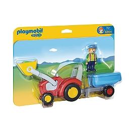 PLAYMOBIL - Fermier Avec Tracteur Et Remorque - 6964