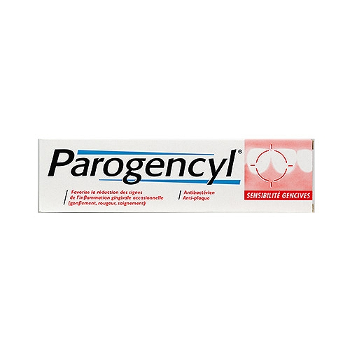 Parogencyl pâte dentifrice sensibilité gencives, goût menthe 75ml