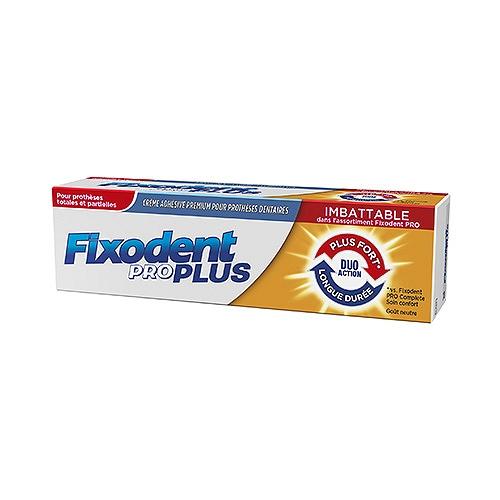 Fixodent pro plus crème adhésive duo action pour prothèse dentaire 40g